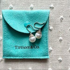 Tiffany + Co Ziegfeld Pearl Earrings Art Deco